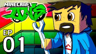 """Minecraft - DNS TECHPACK: Ep 1 """"COOL SEED, BEDS, TREES & MORE!!"""""""