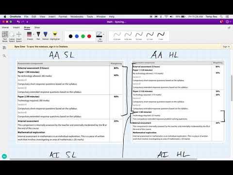 IB Mathematics Analysis/Applications (SL/HL) – Syllabus Outline