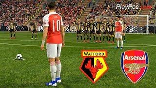 PES 2019 - WATFORD vs ARSENAL - OZIL Free Kick Goal - Full Match & Amazing Goals - Gameplay PC