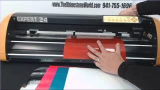 GCC Expert 24 -  Different Size Material Without Turning Off Cutter Trick - TRW Tutorial
