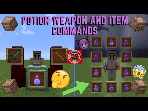 Command Block Tutorial #51: Potion Weapon And Item Commands In Minecraft (1.14+)