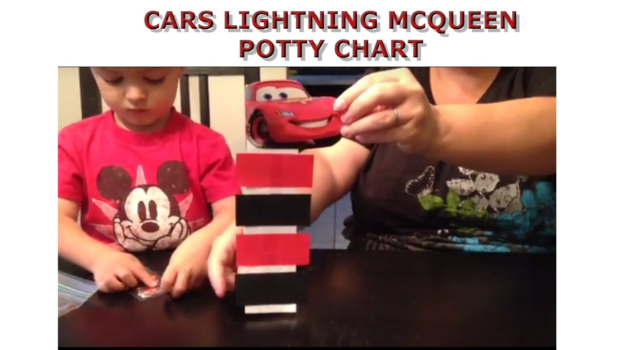 cars lightning mcqueen potty chart youtube