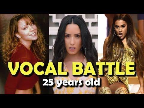 Mariah Carey VS Ariana Grande & Demi Lovato SAME AGE 25 years old VOCAL BATTLE!