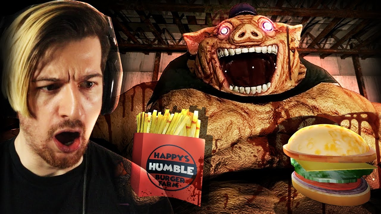 A TERRIFYING FAST-FOOD HORROR GAME.   Happy's Humble Burger Farm (Full Game)