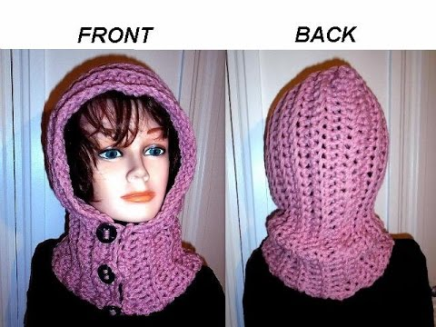 HOW TO CROCHET A HOODIE, BUTTON UP Hood, diy button loops, quick ...