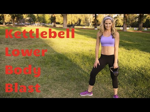 20 Minute Kettlebell Lower Body Blast to Strengthen & Sculpt Legs & Butt
