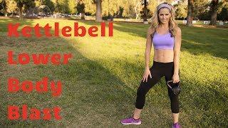 20 Minute Kettlebell Lower Body Blast to Strengthen & Sculpt Legs & Butt