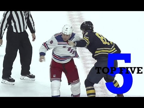 Top Five NHL Hockey Fights of October 2018