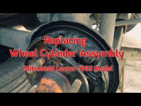 How to Replace Leaky Wheel Cylinder Assembly : Mitsubishi Lancer 1993