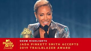 'Challenge Internal Obstacles' Jada Pinkett Smith Accepts 2019 Trailblazer Award | Movie & TV Awards