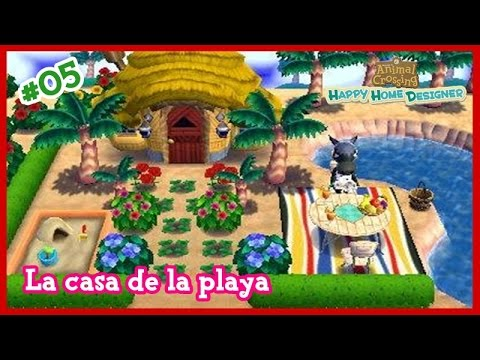 Animal Crossing Happy Home Designer #05 - La Casa De La Playa Y