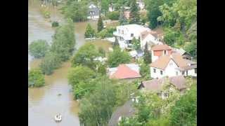 Klecany Klecánky povodně 2013 5.června - pokles vody
