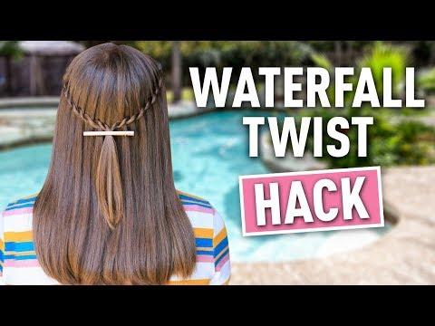 Waterfall Twist HACK | Easy DIY Hairstyles
