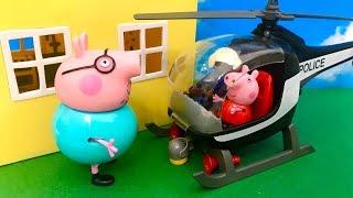 Świnka Peppa ♦ Fajowy lot helikopterem ☺ Bajka dla dzieci PO POLSKU