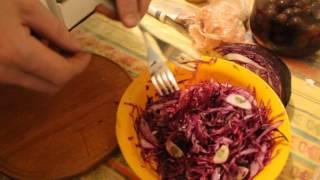 видео Салат Зимний из краснокочанной капусты