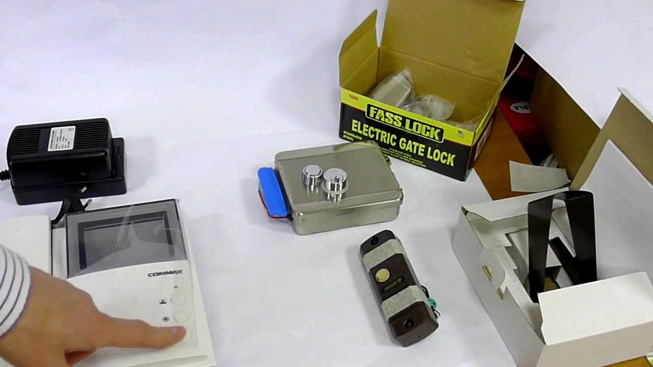 Комплектация электромеханического замка на калитку