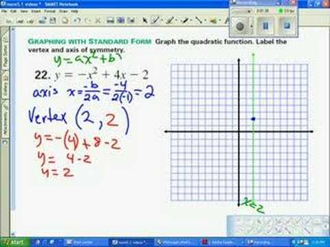 graph parabola standard form - YouTube