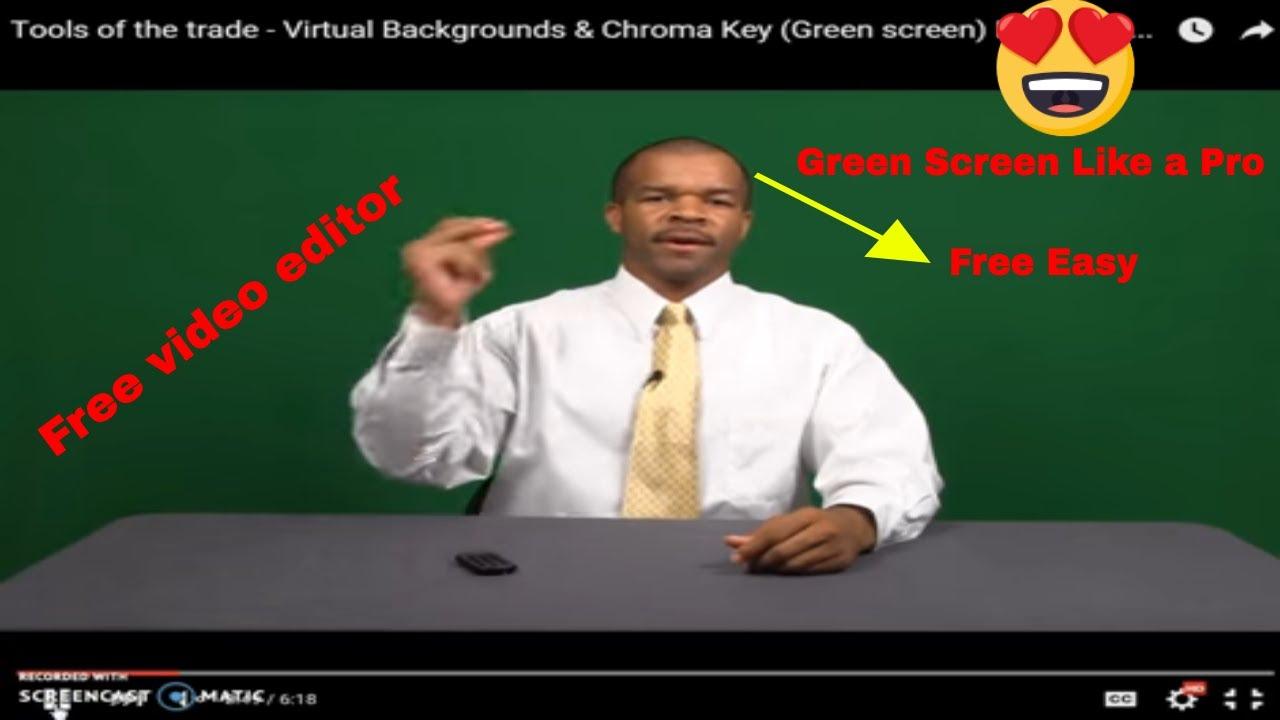 how to add green screen in vsdc