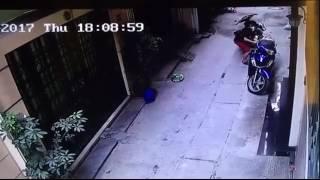 Clip: Thanh niên 'chôm'... biển số xe máy