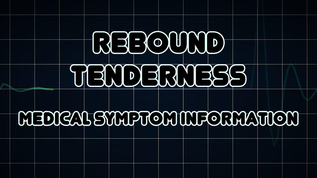 Rebound tenderness (Medical Symptom) - YouTube  Rebound tendern...