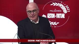 Palmarès des Fournisseurs 2021 - Credifinn