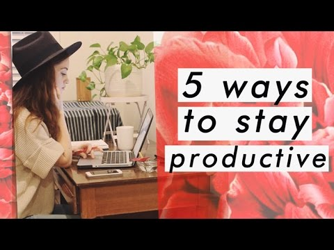 How I stay focused while working from home | 5 productivity tips