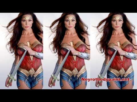Wonder Woman Body paint with Sherie Wagner