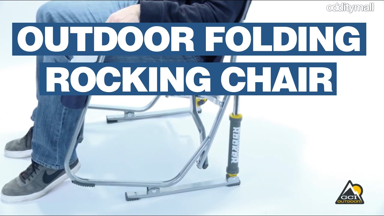 Outdoor Folding Rocking Chair Spring Loaded Rocking Chair