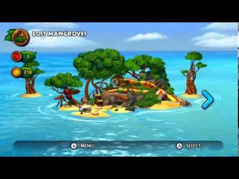First Look - Overworld Map in Donkey Kong Country: Tropical Freeze on