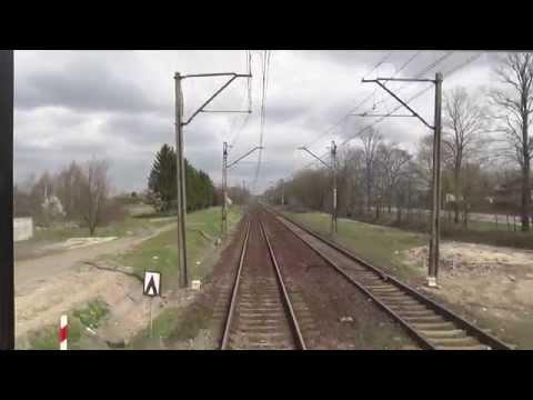 Odcinek Łódź Kaliska - Ostrów Wielkopolski z tyłu pociągu TLK Wrocławianin