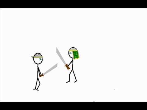 Strichmännchen Kampf