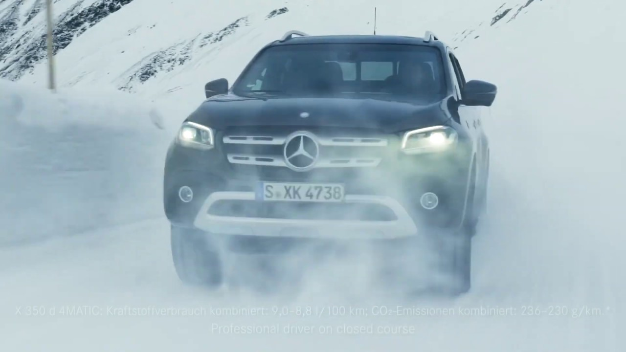 Mercedes Benz in the Snow  X Class, Unimog and Sprinter   Snapshots