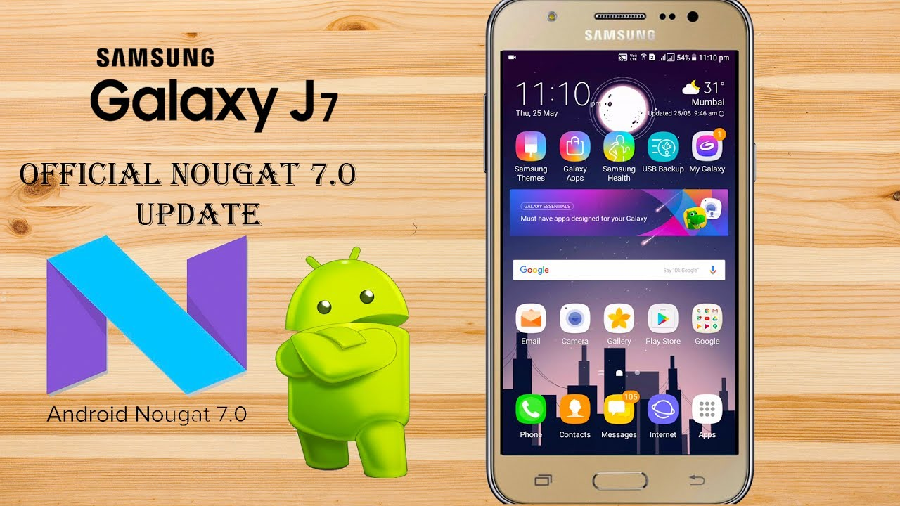 Samsung J7 2015 official android 7 0 nougat update