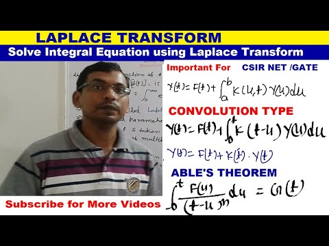 LAPLACE TRANSFORM- INTEGRAL EQUATION OF CONVOLUTION TYPE IN HINDI