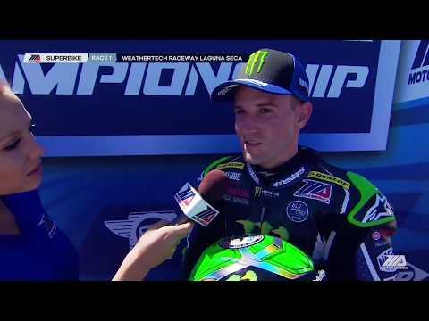 Cameron Beaubier Interview EBC Brakes Superbike Race 1 at Laguna Seca