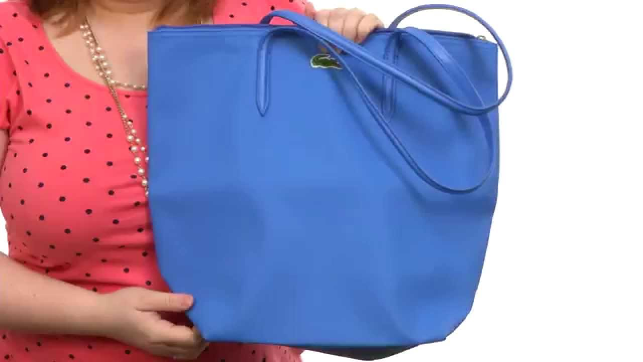 Lacoste L.12.12 Concept M1 Vertical Tote Bag SKU 8549101 - YouTube a5ef2cc7dbf