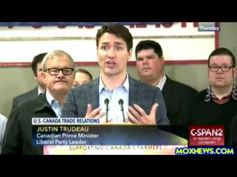 Canadian Prime Minister Justin Trudeau Responds To President Trump's NAFTA Announcement