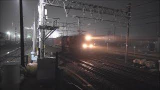 【JR貨物】夜霧の貨物撮影記 EF510 ×3本 日本海縦貫線(北陸本線) 南福井駅 2018年12月27日