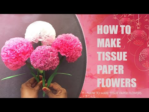 How To Make Tissue Paper Flowers In 5 Minutes