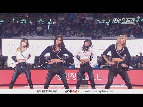 【KBL ALL STAR GAME】 EXID's 'Up & Down' | MagicTeam Vs DreamTeam | 20180114 | 2017-18 KBL