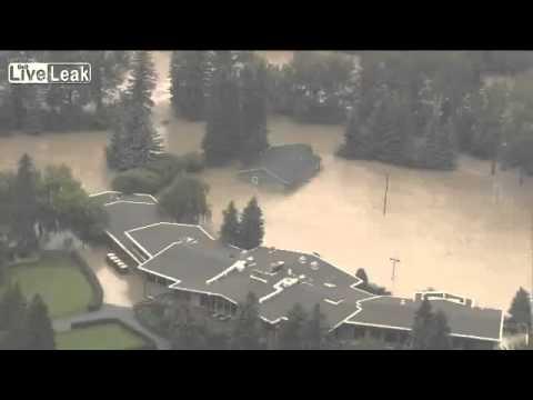 Amazing Aerial Footage of Calgary Flood