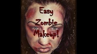 Easy Zombie Makeup Tutorial Thumbnail