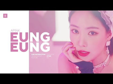 Apink - %% (Eung Eung) Line Distribution (Color Coded) | 에이핑크 - %% (응응)