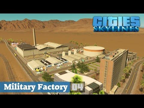 Cities Skylines Designs ★Military Factory! Folge 04 [HD] [Deutsch] ★Let's Design Cities Skylines