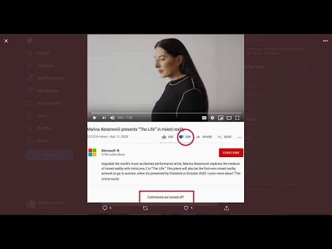 """Microsoft hired- Marina Abramović"""" to do an AD for their new tech -?  ??? """"mixed Reality"""