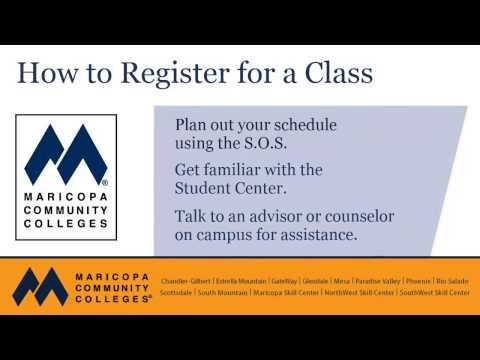My.maricopa.edu Tutorial: How to Register for a Class