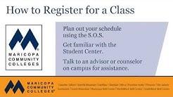 My.maricopa.edu Tutorial: How to Register for a Class