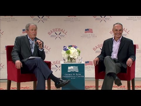 A Conversation with MLB Commissioner Rob Manfred and President George W. Bush