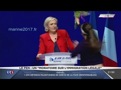 Extraordinaire Meeting de Marine Le Pen au Zénith de Paris (