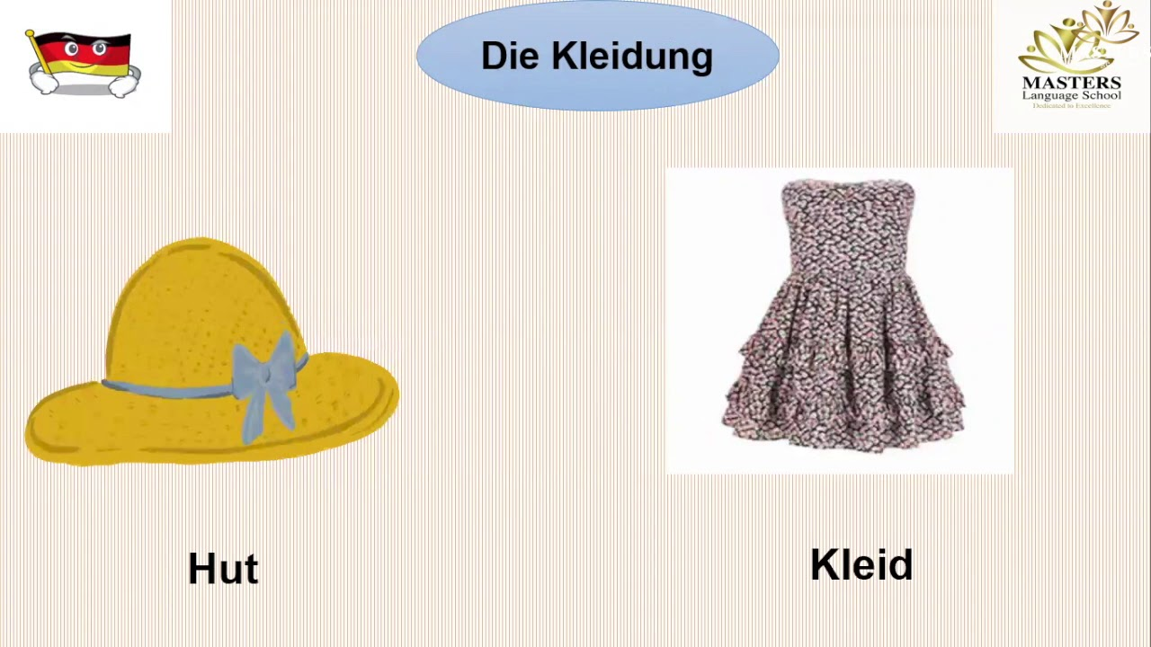 Kg 2 Die Kleidung Seite 24 German Second Term Youtube